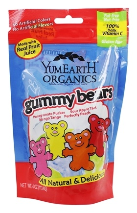 Yummy Earth - Organic Gluten Free Gummy Bears - 4 oz.