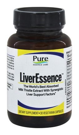 Pure Essence Labs - LiverEssence - 30 Vegetarian Capsules