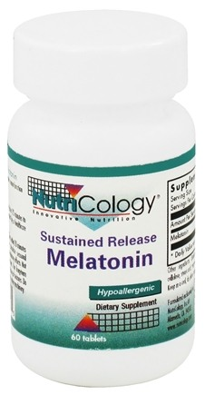 DROPPED: Nutricology - Sustained Release Melatonin 1.2 mg. - 60 Tablets CLEARANCE PRICED