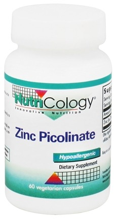 DROPPED: Nutricology - Zinc Picolinate 25 mg. - 60 Vegetarian Capsules