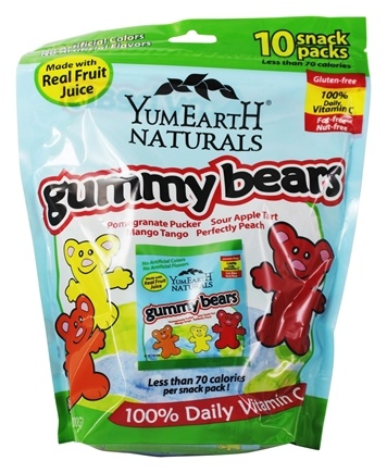 Yum Earth - Natural Gluten Free Gummy Bears - 10 Pack(s)