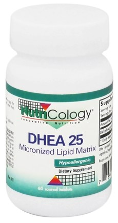 DROPPED: Nutricology - DHEA 25 mg. - 60 Tablets CLEARANCE PRICED