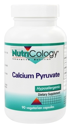 Nutricology - Calcium Pyruvate - 90 Vegetarian Capsules