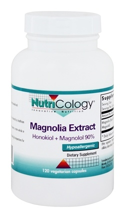 Nutricology - Magnolia Extract 200 mg. - 120 Vegetarian Capsules