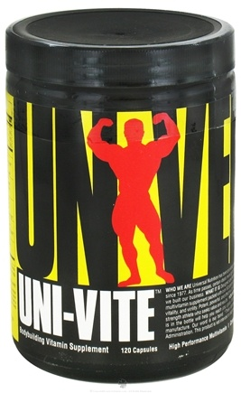 DROPPED: Universal Nutrition - Uni-Vite High Performance Multivitamin - 120 Capsules CLEARANCE PRICED