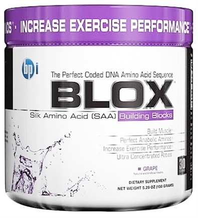 DROPPED: BPI Sports - Blox Silk Amino Acid Building Blocks - 30 Servings Grape - 150 Grams
