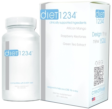 DROPPED: Creative BioScience - Diet 1234 - 60 Capsules CLEARANCE PRICED