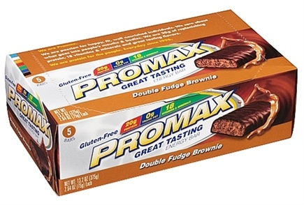 DROPPED: Promax - Energy Bar Double Fudge Brownie - 5 Bars CLEARANCE PRICED