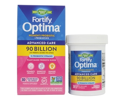 Nature's Way - Primadophilus Optima Women's 90 Billion Active Probiotics - 30 Vegetarian Capsules