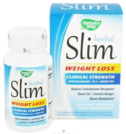 DROPPED: Nature's Way - Herbal Slim Weight Loss - 60 Vegetarian Capsules CLEARANCE PRICED