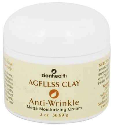 DROPPED: Zion Health - Ageless Clay Anti-Wrinkle Mega Moisturizing Cream - 2 oz. CLEARANCE PRICED
