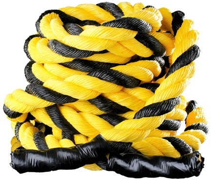 DROPPED: Onnit - Battle Rope (2 inches x 50 feet) Black and Yellow