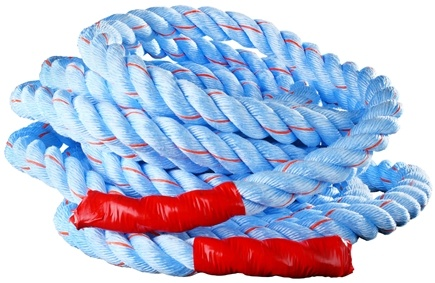 DROPPED: Onnit - Battle Rope (1.5 inches x 40 feet) Blue and Red Tracer