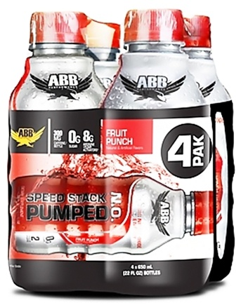 DROPPED: ABB Performance - Speed Stack Pumped NO Nitric Oxide Energy Fruit Punch 22 oz. - 4 Pack