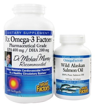 DROPPED: Natural Factors - RxOmega-3 Factors EPA 400 mg/DHA 200 mg BOGO - 240 + 90 Softgels