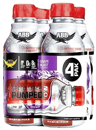 DROPPED: ABB Performance - Speed Stack Pumped NO Nitric Oxide Energy Grape 22 oz. - 4 Pack CLEARANCE PRICED