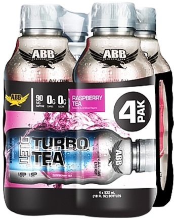 DROPPED: ABB Performance - Diet Turbo Tea Raspberry 18 oz. - 4 Pack