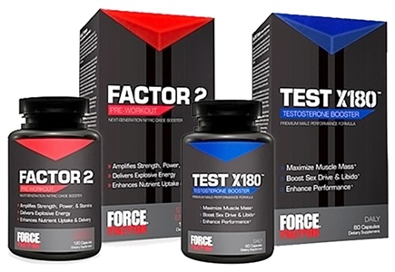 DROPPED: Force Factor - Combo Pack - Factor 2 & Test X180