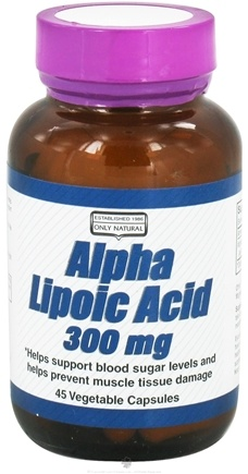 DROPPED: Only Natural - Alpha Lipoic Acid 300 mg. - 45 Vegetarian Capsules