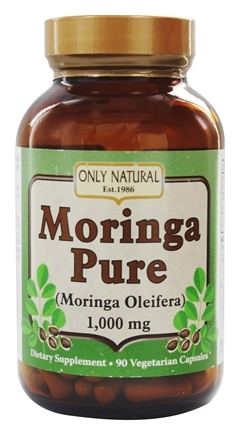 Only Natural - Moringa Pure 1000 mg. - 90 Vegetarian Capsules