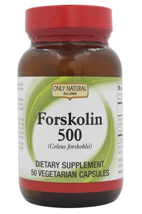 Only Natural - Forskolin 500 mg. - 50 Vegetarian Capsules