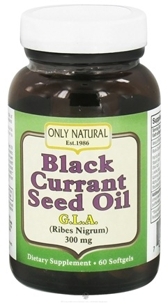 DROPPED: Only Natural - Black Currant Seed Oil 300 mg. - 60 Softgels CLEARANCE PRICED
