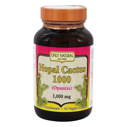 Only Natural - Nopal Cactus 1000 mg. - 90 Vegetarian Capsules