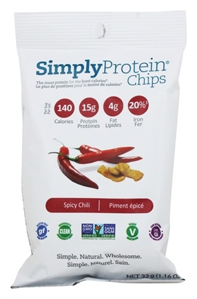 DROPPED: Simply Protein - Protein Chips Chili - 33 Grams