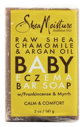 Shea Moisture - Raw Shea, Chamomile & Argan Oil Baby Eczema Bar Soap With Frankincense & Myrrh - 5 oz.