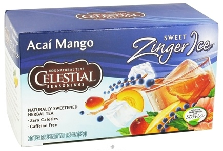 DROPPED: Celestial Seasonings - Sweet Zinger Ice Herbal Tea Caffeine Free Acai - 20 Tea Bags CLEARANCE PRICED
