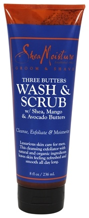 Shea Moisture - Three Butters Wash & Scrub with Shea, Mango & Avocado Butters for Men - 8 oz.