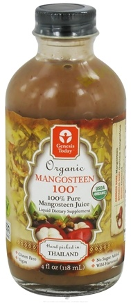 DROPPED: Genesis Today - Organic Mangosteen 100 Juice - 4 oz.