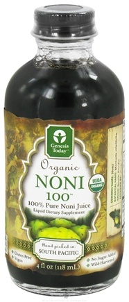 DROPPED: Genesis Today - Organic Noni 100 Juice - 4 oz. CLEARANCE PRICED