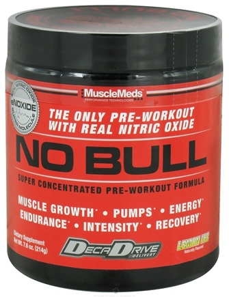 DROPPED: MuscleMeds - NO Bull Super Concentrated Pre-Workout Formula Lemon Ice - 214 Grams