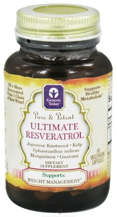 Genesis Today - Pure and Potent Ultimate Resveratrol - 60 Vegetarian Capsules