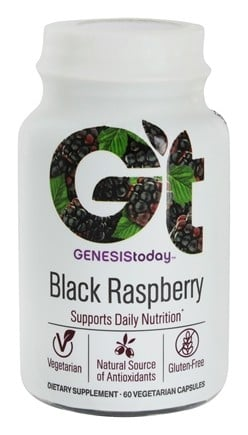 Genesis Today - 100% Pure Black Raspberry - 60 Vegetarian Capsules