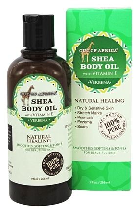 Out Of Africa - Pure Shea Body Oil Verbena - 9 oz.