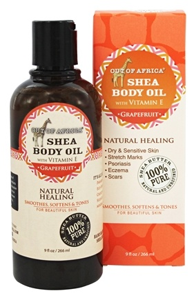 Out Of Africa - Pure Shea Body Oil Grapefruit - 9 oz.