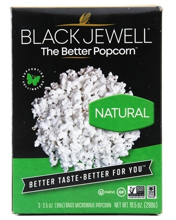 Black Jewell - All Natural Microwave Popcorn 3 Bags Natural Flavor - 10.5 oz.