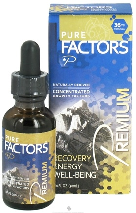 Pure Solutions - Pure Factors Premium Concentrated Growth Factors from Deer Velvet Antler Extract 36 mg. - 1 oz.