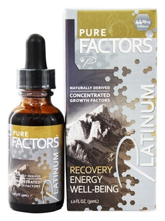 Pure Solutions - Pure Factors Platinum Concentrated Growth Factors Deer Velvet Antler Extract 44.25 mg. - 1 oz.