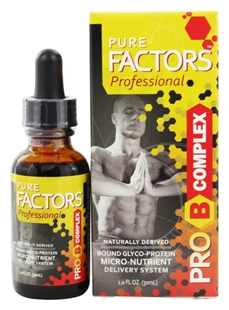 DROPPED: Pure Solutions - Pure Factors Professional Pro B Complex From Deer Velvet Antler Extract 30 mg. - 1 oz.