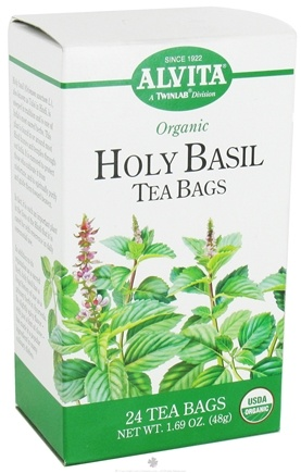 DROPPED: Alvita - Organic Holy Basil Tea Caffeine Free - 24 Tea Bags CLEARANCE PRICED