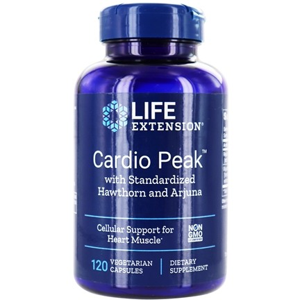 Life Extension - Cardio Peak with Standardized Hawthorn and Arjuna - 120 Vegetarian Capsules