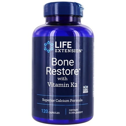Life Extension - Bone Restore with Vitamin K2 - 120 Capsules