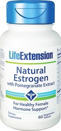 DROPPED: Life Extension - Natural Estrogen with Pomegranate Extract - 60 Vegetarian Tablets