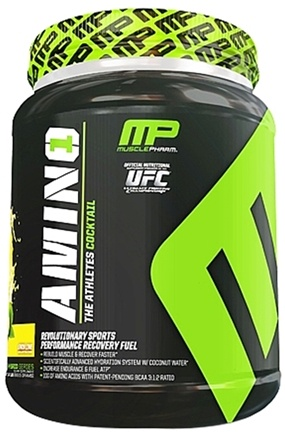 DROPPED: Muscle Pharm - Amino1 Hybrid Series Revolutionary Sports Performance Recovery Fuel Lemon Lime - 50 Serving(s)