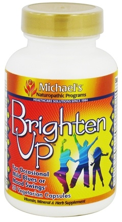 DROPPED: Michael's Naturopathic Programs - Brighten Up - 30 Vegetarian Capsules CLEARANCE PRICED
