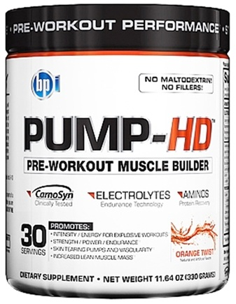 DROPPED: BPI Sports - Pump-HD Pre-Workout Muscle Builder Orange Twist 30 Servings - 11.64 oz. CLEARANCE PRICED