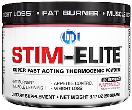 DROPPED: BPI Sports - Stim-Elite Super Fast Acting Thermogenic Powder Watermelon - 30 Servings - 3.17 oz. CLEARANCE PRICED